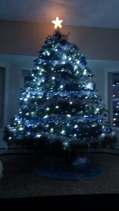 Our blue christmas tree