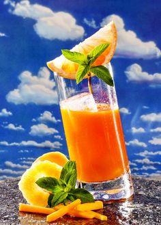 Erfrischender, gesunder Grapefruit-Möhren-Drink - kalorienarm und ideal zum Abnehmen