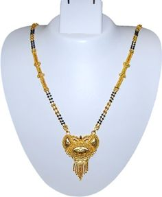 Imitation Gold Plated Long Traditional Mangalsutra Necklace / AZMNGT006-GLD Arras Creations http://www.amazon.com/dp/B00HLPMSD4/ref=cm_sw_r_pi_dp_5BWStb0GAPD48H9T