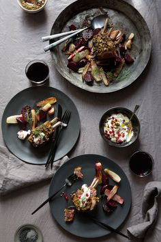Rack Of Lamb With Chermoula Over Roasted Fennel And Beetroot