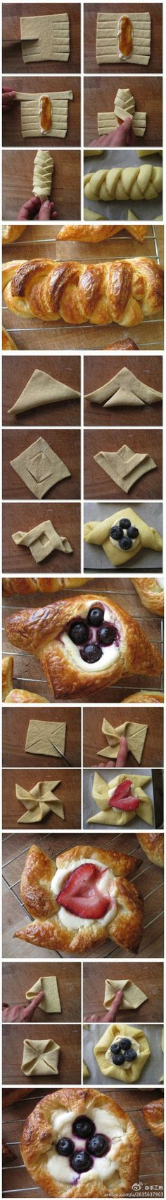 Creative pastry folds