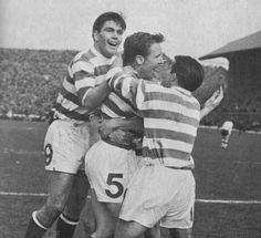 Billy McNeill scores in the 1965 Scottish Cup Final against Dunfermline