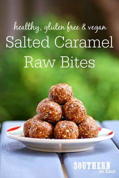 Healthy Salted Caramel Raw Bites Recipe - Healthy, Raw, Vegan, Gluten Free, Sugar Free, Egg Free, Dairy Free Bliss Balls