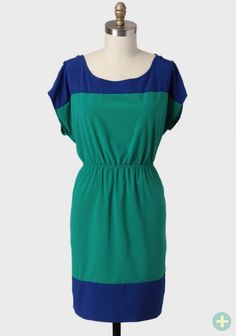 Veronica Colorblocked Curvy Plus Dress