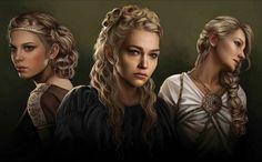 Elaena, Rhaena and Daena Targaryen by Magali Villeneuve