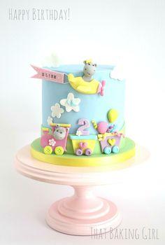Airplane train cake