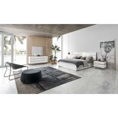 Features: Modern Design Materials: MDF / Wood Veneer / Stainless Steel Finish: White High Gloss Case good equipped with soft closing mechanism Includes ortho spring Mdf Wood, Wood Veneer, Contemporary Bedroom, Modern Bedroom, Bedroom Sets, Bedding Sets, Bedrooms, Platform Bed, Decorating Rooms