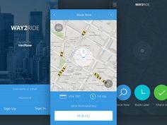 New Taxi App iOS 8 - by Konstantin Vorontsov | #ui