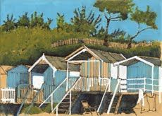 BEACH HUTS at WELLS - NORTH NORFOLK by Jim Morris