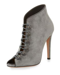 Imperia+Suede+Open-Toe+105mm+Bootie,+Gray+by+Gianvito+Rossi+at+Neiman+Marcus.