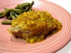 Mom Pat's Pork Chops With Creamed Corn