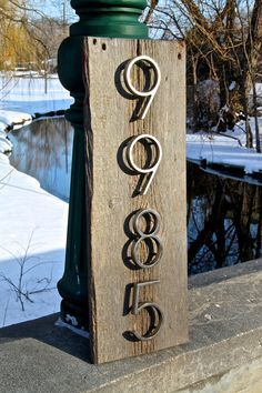 1000 images about barn wood ideas on pinterest barn - House number plaque ideas ...