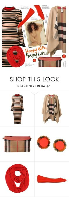 """""""Sweater dresses make wives happy (together with shoes, bags etc..) !"""" by sara-cdth ❤ liked on Polyvore featuring Twin-Set, Burberry, Kate Spade and Roger Vivier"""