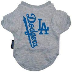 Los Angeles Dodgers Dog Tee Shirt - Medium
