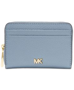 81c11dcab094 Michael Michael Kors Pebble Leather Zip-Around Coin & Card Case - Blue Coin  Card