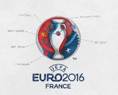 Discover more of the best Euro, Branding, and Logo inspiration on Designspiration 1 Logo, Typography Logo, Logo Branding, Branding Design, Uefa Euro 2016, Visual Identity, Brand Identity, O Euro, Logo Design Love