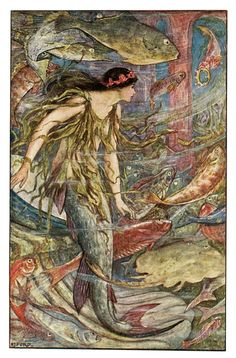 ♒ Mermaids Among Us ♒ art photography & paintings of sea sirens & water maidens - H.J.Ford from the Orange Fairy Book