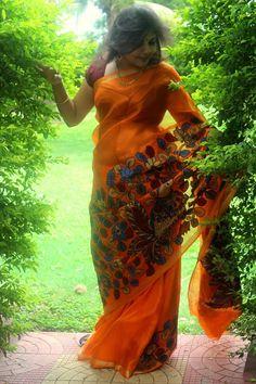Kalamkari Kota Silk Applique Saree | Buy Online Sarees | Elegant Fashion Wear