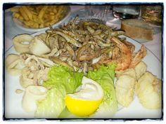 Frittura di pesce e verdure