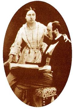 Queen Victoria and Prince Albert photographed by Roger Fenton at Buckingham Palace on 30 June 1854.