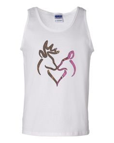 Snuggling Buck and Doe Camo Tank top