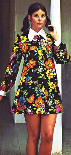 CLICK TO READ: Mod Fashion in the 60's - Baby Boomer Nostalgia - (image creative commons due to age - 1960's magazine ad for Bobbie Brooks) - and yes... every boomer woman in the US owned a Carnaby-Street style of dress from Bobbie Brooks back in the day. hope you boomers remember this! The model is Colleen Corby.