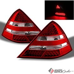 19982004 MercedesBenz R170 SLK230320 Red Clear LED Tail Lights Brake Lamp Upgrade Pair LR 1999 2000 2001 2002 2003 * You can get additional details at the image link.