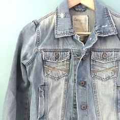 I just discovered this while shopping on Poshmark: Aeropostale Denim Distressed Jacket. Check it out! Price: $25 Size: S