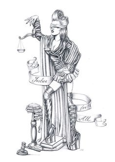 """""""Lady Justice"""" by Isobel Von Finklestein   Redbubble"""