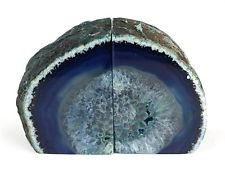 Crystal Allies Gallery: Pair of Small 1lb - 3lbs Polished Agate Geode Halves Boo