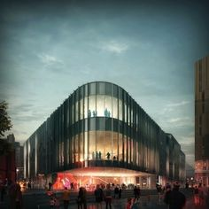 Designs for the new Home building, by Mecanoo