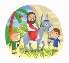 Palm Sunday Jesus On Donkey by edmyer