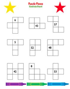 Here's a set of 4 different hundred board puzzles for students to complete.