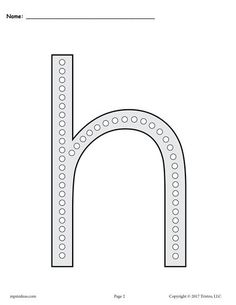 free letter h q tip painting printables includes uppercase and lowercase letter h worksheets