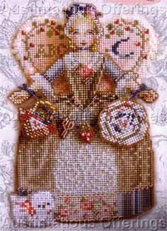 Spirit Angels Bead Cross Stitch Kit Brooke's Books XStitch Angel
