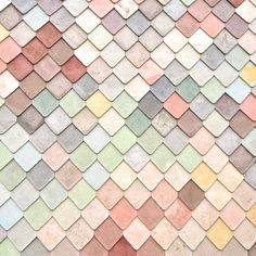 Pastel tiles on the Sugarhouse Studios Building in London. Textures Patterns, Color Patterns, Print Patterns, Colour Schemes, Color Trends, Pastel Colors, Colours, Pastels, Paint Paint