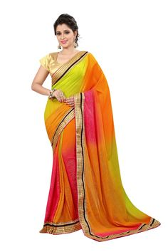 Printed Fashion Poly Georgette Saree  (Green)- online shopping - Contact us / Worldwide shipping >Free shipping >Cash on Delivery >Premium Quality Saree   Contact us / whats app us : +91 9725728989   Resellers can contact   #silk #saree #sari #woven #fashion #style #deal #special #women #man #wholesale Georgette Saree Party Wear, Georgette Sarees, Fashion Prints, Cool Outfits, Sari, Online Shopping, How To Wear, Delivery, Free Shipping