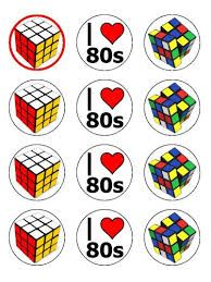 80s birthday cupcake toppers - Google Search