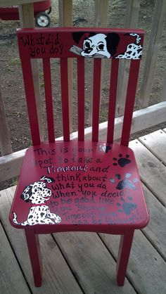 Timeout chair- 101 Dalmations!