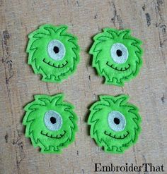 EXCLUSIVE Silly Monster machine embroidered felt by EmbroiderThat, $3.95