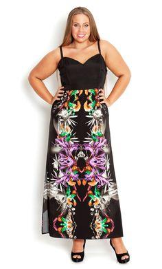 76391967b50 City Chic - ORCHID JUNGLE MAXI DRESS - Women s plus size fashion Plus Size  Fashion For