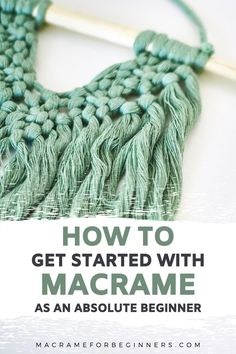 When I asked the lovely members of our Macrame for Beginners Facebook Group what they would like to learn as new Macrame Makers, there was one very basic question that really stood out: How to get started with Macrame? There is so much information out there and so many different knots to learn and cords to buy, it seems to be making beginners feel a bit overwhelmed and nervous to actually start their first Macrame project. #macrame #macrameforbeginners