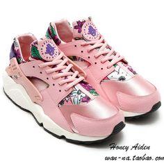 e526a52e4ff for sneakers Nike WMNS Air Huarache Run Print Floral Pale Pink Flowers Club  Purple
