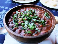 """Lobio in Georgian means """"beans"""", but this name also carries the dish of boiled beans. There are dozens of recipes for this hearty soup, and they are a Red Beans, Russian Recipes, The Dish, Good Food, Food And Drink, Soup, Beef, Fresh, Dishes"""
