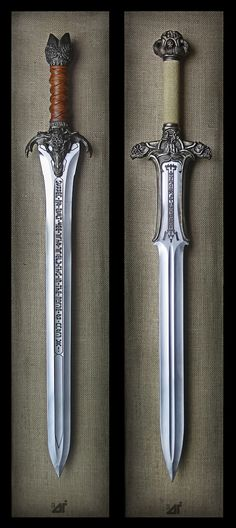 two awesome swords - http://www.lcarsmotorcycles.com/photos/two-awesome-swords/