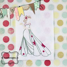 Elsa Fever Inspired ITH Redwork Embroidery Design