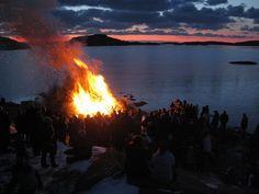 Easter bonfire in Bovallstrand