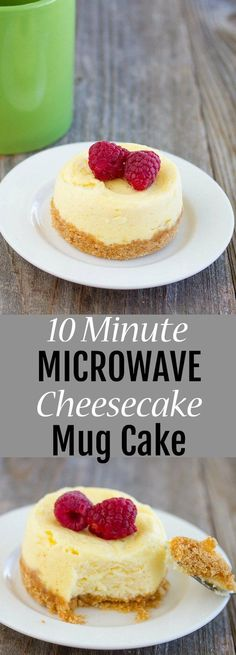 10 Minute Microwave Cheesecake Mug Cake. A quick and easy single serving cheesec… 10 Minute Microwave Cheesecake Mug Cake. A quick and easy single serving cheesecake fix! Mug Cheesecake, Cheesecake Recipes, Dessert Recipes, Breakfast Recipes, Personal Cheesecake Recipe, Breakfast Cheesecake, Homemade Cheesecake, Classic Cheesecake, Dessert Ideas