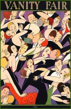 1926 ART DECO JAZZ DANCE POSTER FLAPPER LOVE GUYS+DOLLS  ADVERTISING HISTORY