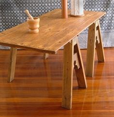 Medieval Trestle - Table by ~Cannonshots on deviantART